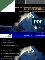 La Política y Estrategia Nacional de Los Recursos Hídricos - Rosazza2009