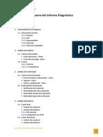 Esquema Del Informe Diagnóstico