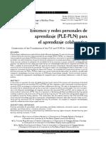 Entornos Redes Personales Aprendizaje Ple Pln