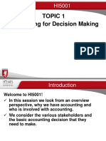 Topic 1B Accounting for Decision Making 2016