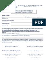 Carta de Consetimiento Bajo Información Para Cirugía