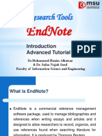 Endnote and ResearchTools .ppt