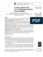 Journal of Intellectual Capital Volume 15 issue 1 2014 [doi 10.1108_JIC-04-2013-0049] Vishnu, Sriranga; Kumar Gupta, Vijay -- Intellectual capital and performance of pharmaceutical firms in India.pdf