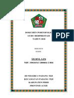 Dokumen Portofolio Cover