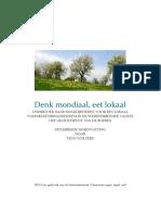 Denk Mondiaal, Eet Lokaal. Uitgebreide Samenvatting Finaal