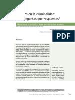 Mujeres en La Criminalidad