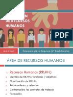 Unidad 12. La Función de Recursos Humanos