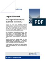 Digital Dividend. Making the broadband business successful (Detecon Executive Briefing)