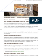 Homemade Fertilizers - 15 Simple and Inexpensive Options - The Grow Network _ the Grow Network