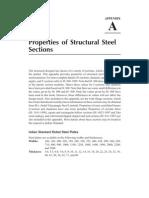 Properties of Steel Sections