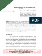 Contribuição para uma didática da leitura nas aulas de espanhol
