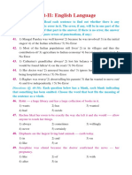 English Language Model Question Papers