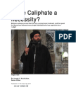 Is the Caliphate a Necessity
