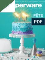 Brochure Tupperware mois anniversaire mai 2018