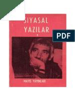 YılmaZ Güney Siyasal Yazılar CİLT-I