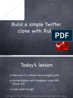 Ruby Course - lesson 8 - Build a simple Twitter clone with Ruby