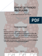 Surgical Management of Thyroid Neoplasms