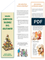 NUTRICION Alimentacion Saludable Adulto Mayor
