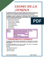 Funciones de La Lengua