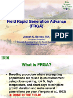 Field Rapid Generation Advance (FRGA)