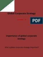 Global Corporat Strategy