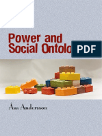 Andersson Asa (2007). Power and Social Ontology