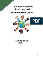 2018 Global Village International Employee Handbook (1) (1)