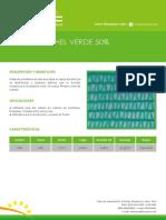 Malla Raschel Verde 50