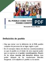 Pueblo Titular Del Poder Constituyente - Prof Hernando Franco