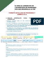 Manual Para El Llenado de Los Formatos Estadísticos de Los Programas Preventivos 2