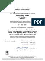 Certificado ISO - 2017 - SKF