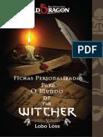 Old Dragon O Mundo de the Witcher Fichas Exclusivas