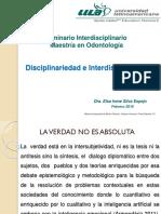 3 EISE Disciplinariedad e Interdisciplinariedad