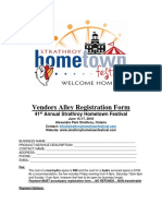 Strathroy Hometown Festival - Vendor Reg Form 2018
