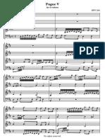 fuga a 4 voces Bach