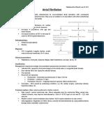 atrial fibrillation - student residency