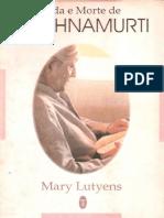Vida e Morte de Krishnamurti - Mary Lutyens