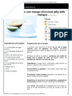 Hoja de Impresión de Gelatina de Coco Con Mango (Coconut Jelly With Mango)