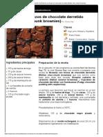 Hoja de Impresión de Brownie Con Trozos de Chocolate Derretido (Molten Choc-chunk Brownies)