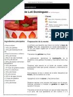 Hoja de Impresión de Tarta de Fresas de Loli Domínguez