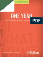 Kellogg One Year Program Brochure 2014