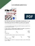 5 Claves Sobre El Artículo Neutro Lo en Español
