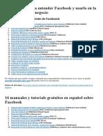 24 Manuales Para Entender Facebook y Usarlo en La Promoción de Tu Negocio