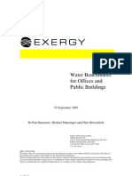 Water Benchmarks for Offices and Public Buildings