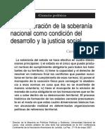 Soberania Nacional Condicion Del Desarrollo y La Justicia Social