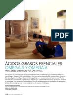 Ácidos Grasos Esenciales Omega-3 y Omega-6 Papel en El Embarazo y La Lactancia