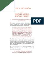 ACERCA DEL MESÍAS