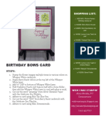 Birthday Bows Card