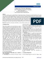 Bug Detection Tool for Websites