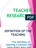 Teacher Researcher